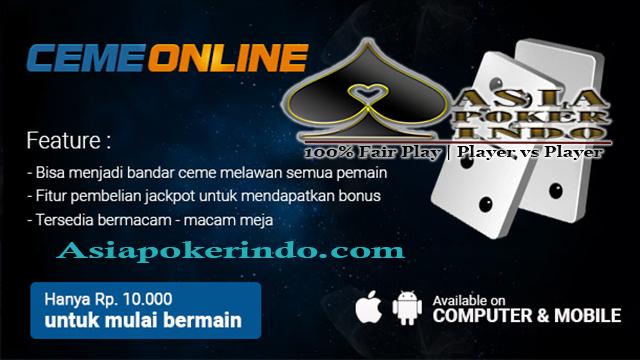 Situs Bandar Ceme Online Deposit 10rb