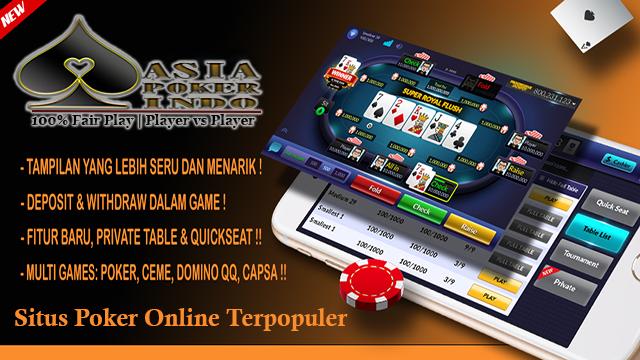 Situs Poker Online Indonesia Terpopuler